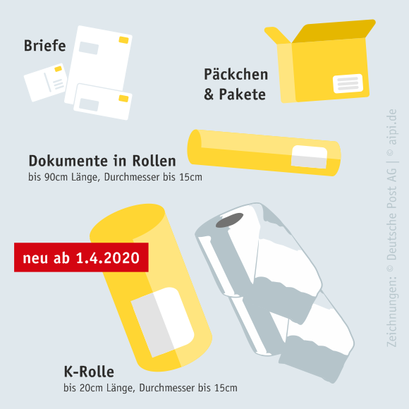K-Rolle - neues Produkt der Deutschen Post ab 1. April 2020